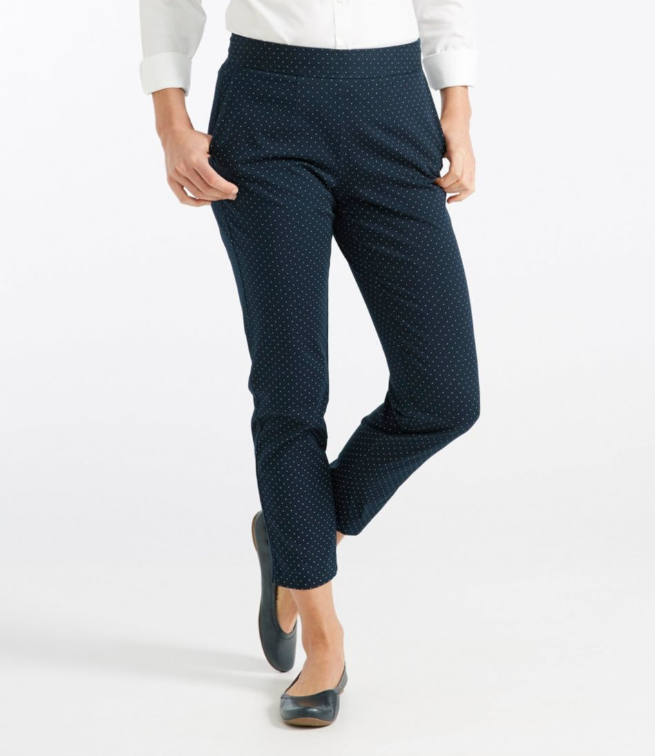 Side-Zip Ankle Pants, Print