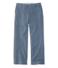 Washed Chinos, Wide-Leg Cropped Chambray