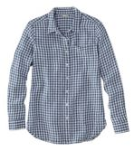 Women's Premium Washable Linen Shirt, Tunic Plaid