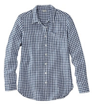 Premium Washable Linen Shirt, Tunic Plaid