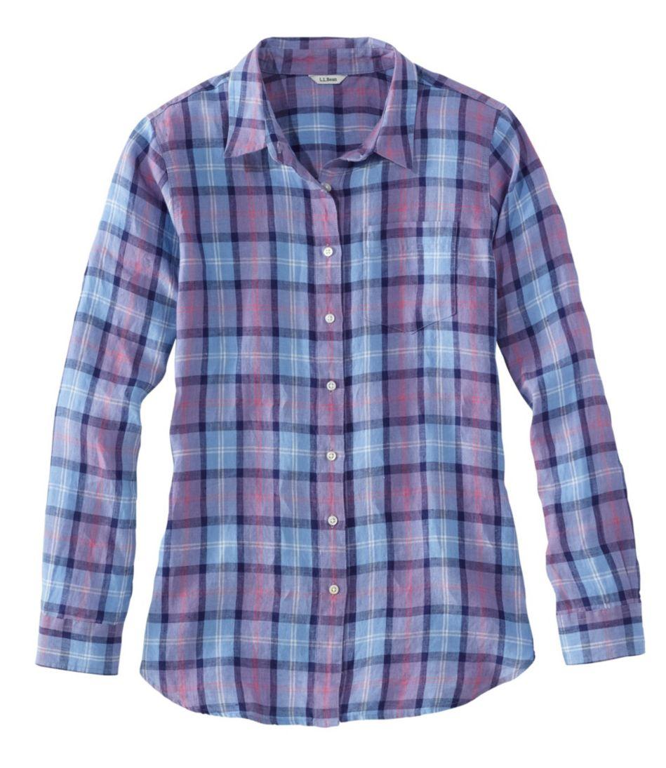 Premium Washable Linen Shirt, Tunic Plaid