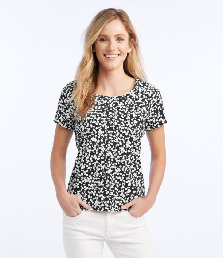 Summerweight Cotton Tee, Print