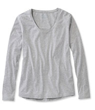 Super-Soft Shrink-Free Tee, Long-Sleeve V-Neck