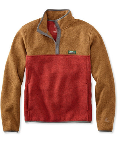 L.L.Bean Sweater Fleece Pullover, Colorblock | Free Shipping at ...