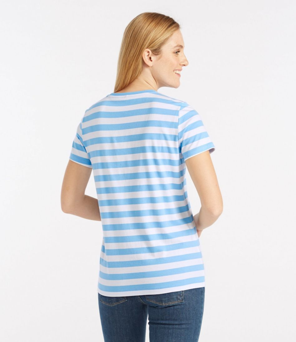 Carefree Unshrinkable Tee, Slightly Fitted Short-Sleeve Stripe