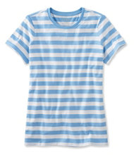 Women's Carefree Unshrinkable Tee, Short-Sleeve Stripe