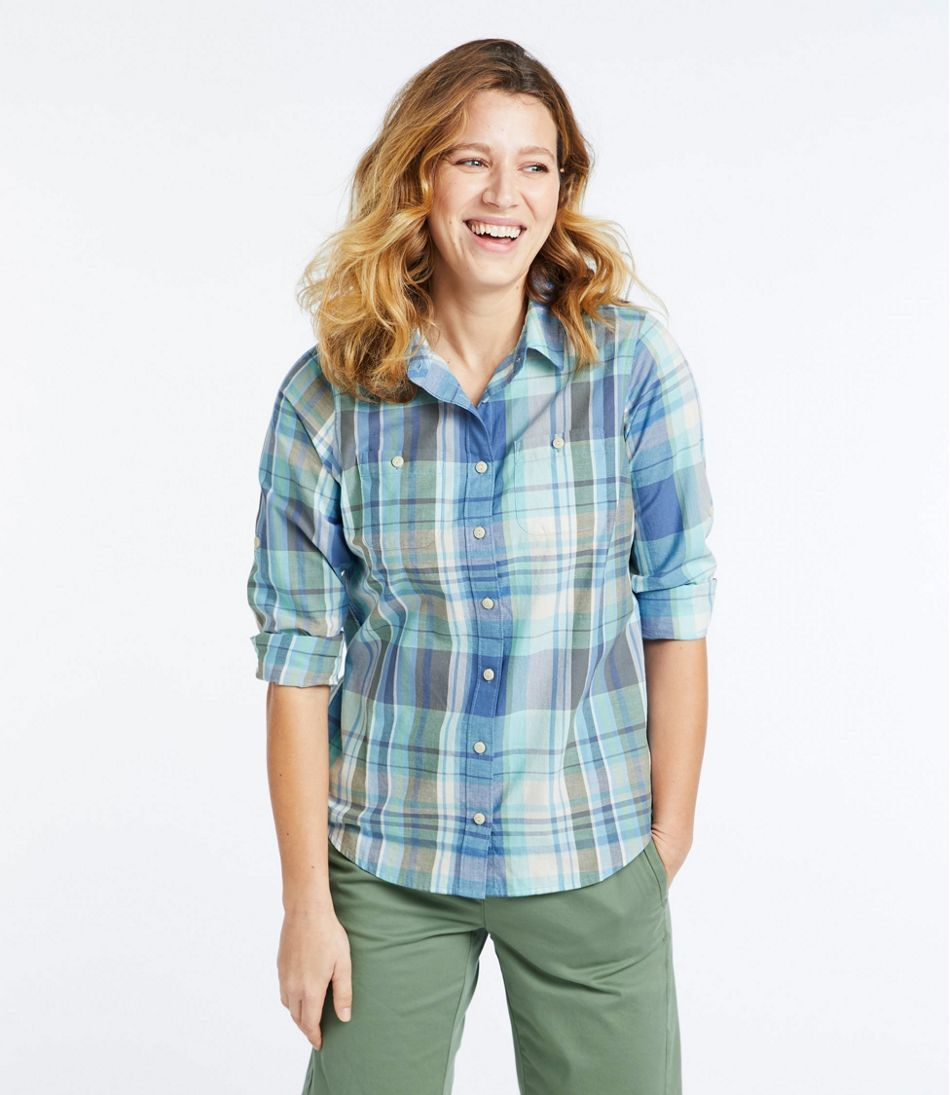 Women's L.L.Bean Madras Shirt, Long-Sleeve