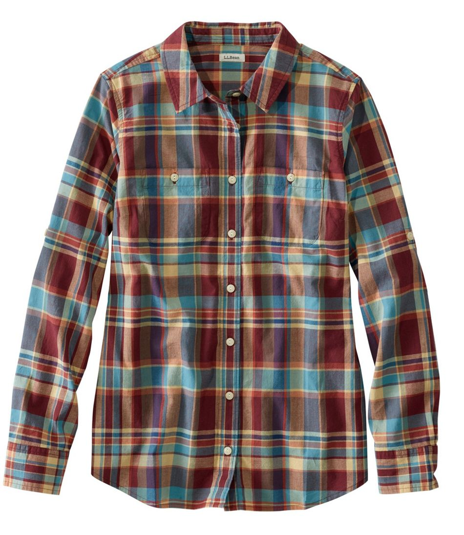 L.L.Bean Madras Shirt, Long-Sleeve