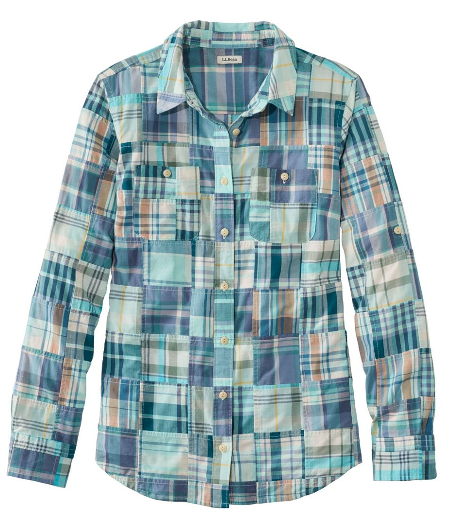 L.L.Bean Madras Shirt, Long-Sleeve Patchwork
