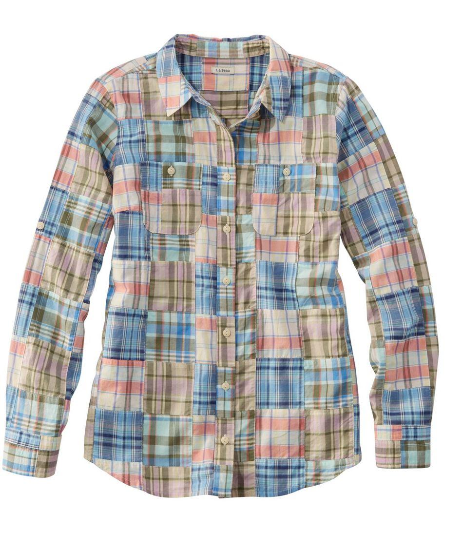 L.L.Bean Madras Shirt, Long-Sleeve Patchwork