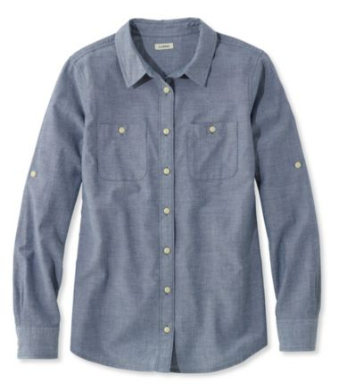 L.L.Bean Madras Shirt, Long-Sleeve Chambray