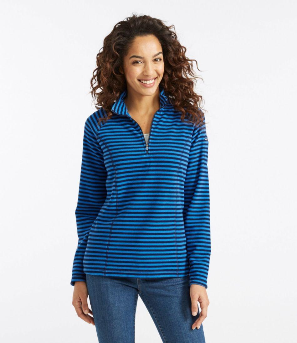 Fitness Fleece, Quarter-Zip Pullover Stripe
