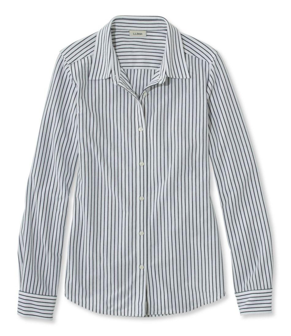 Shrink-Free Knit Shirt, Stripe