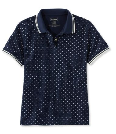 Premium Double L® Polo, Relaxed Fit Short-Sleeve Dot