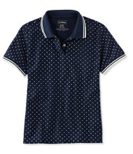 Women's Premium Double L® Polo, Relaxed Fit Short-Sleeve Dot