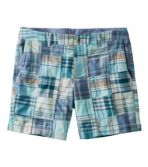 "Washed Chino Shorts, 6"" Patchwork"