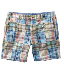 "Women's Washed Chino Shorts, 6"" Patchwork"