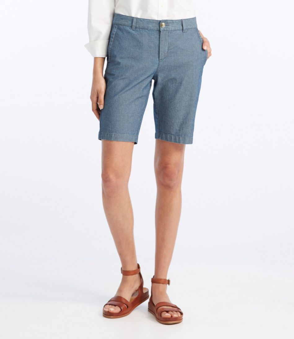 Washed Chino Bermuda Shorts, Chambray
