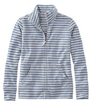 Ultrasoft Sweats, Full-Zip Mock-Neck Jacket Stripe