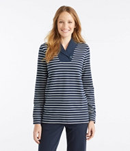 Ultrasoft Sweats, Shawl Collar Pullover Stripe