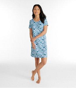 Women's Supima Nightgown Short Sleeve Floral Misses Regular