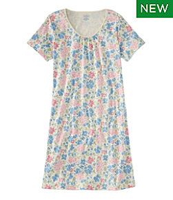 Women's Supima Nightgown Short Sleeve Floral Misses Regular