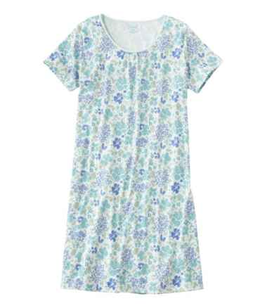 Supima Nightgown, Short-Sleeve Print