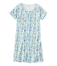 Supima Nightgown, Short-Sleeve Floral