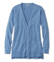 Cotton/Modal V-Neck Cardigan, Long Sleeve