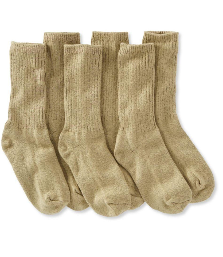Cotton Crew Socks, Three-Pack