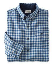 Lined Lakewashed Flannel Shirt, Slightly Fitted Gingham