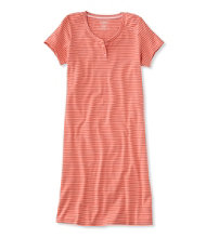 Ultrasoft Nightgown, Short-Sleeve Stripe