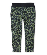 Girls' L.L.Bean Tech Leggings, Capri Print