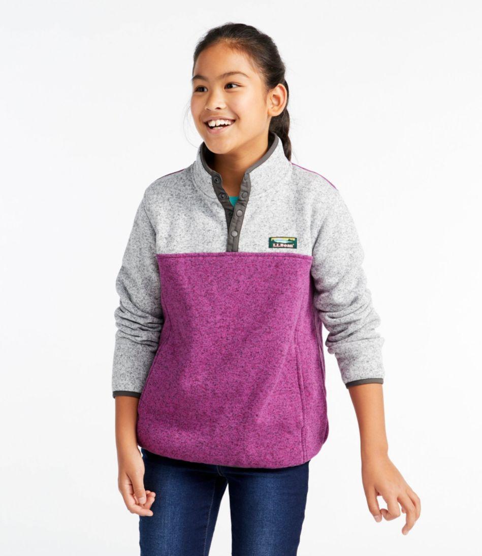 Kids' L.L.Bean Sweater Fleece Pullover, Colorblock
