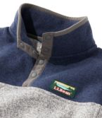 Kids' L.L.Bean Sweater Fleece Pullover, Colorblock