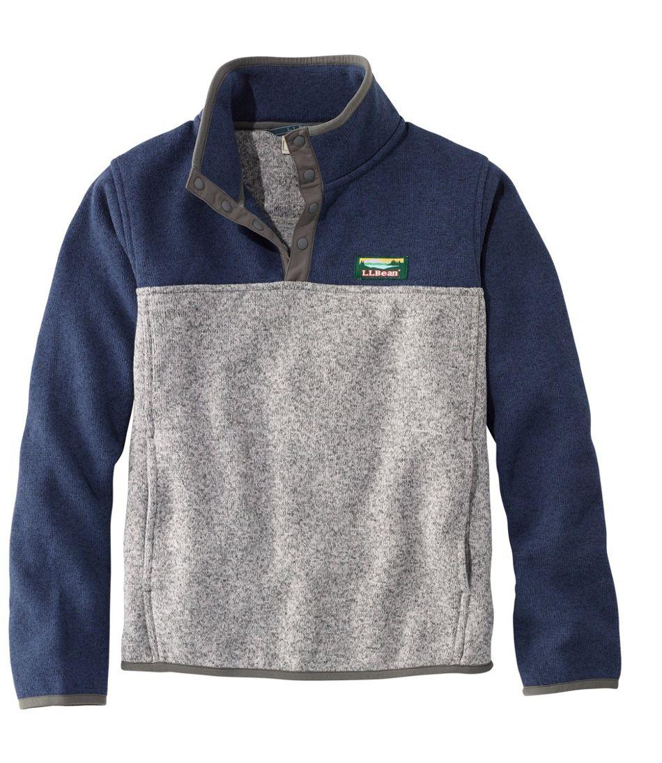 Kids Llbean Sweater Fleece Pullover Colorblock Basic Pull Over