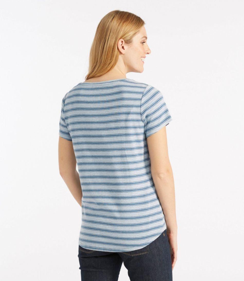 Garment-Dyed Tee, Short-Sleeve Crewneck Stripe