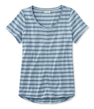 Garment-Dyed Tee, Short-Sleeve Crewneck Stripe