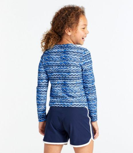 Girls' Sun-and-Surf Shirt, Long-Sleeve Print