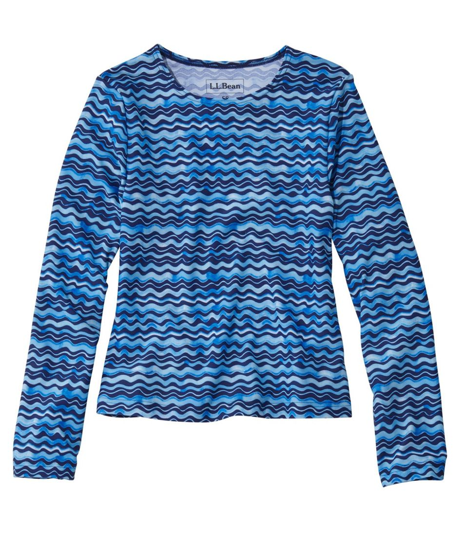 Girls' Sun-and-Surf Shirt, Long-Sleeve Print