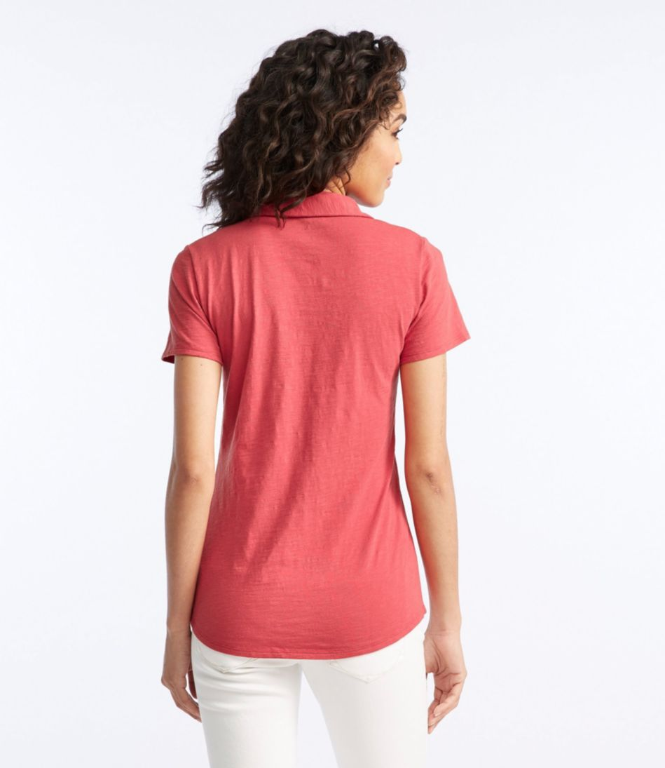 Women's West End Fitted Polo, Short-Sleeve Splitneck