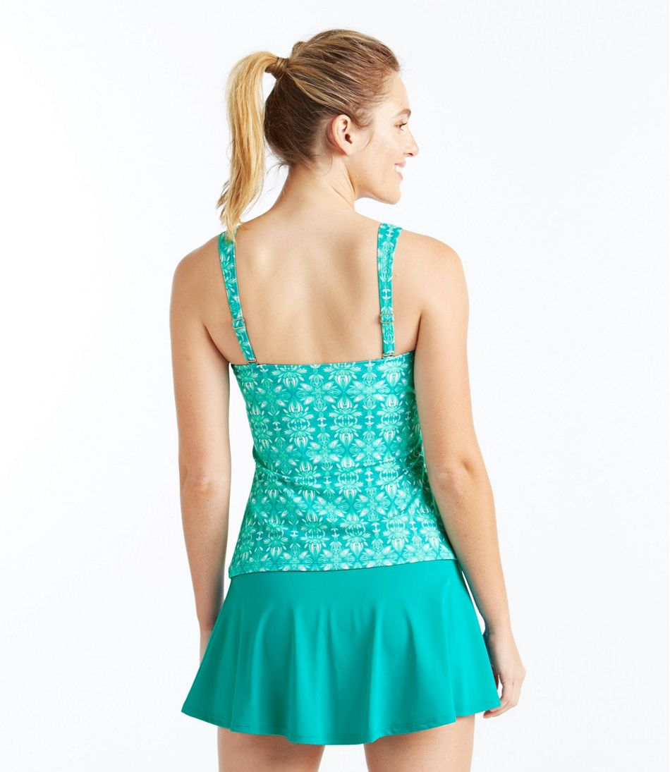 L.L.Bean Mix-and-Match Swim Collection, Bandeau Tankini Top Print