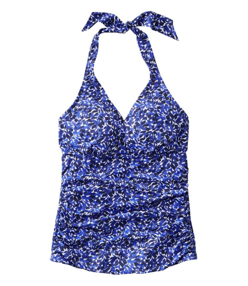 L.L.Bean Mix-and-Match Swimwear, Halter Tankini Print