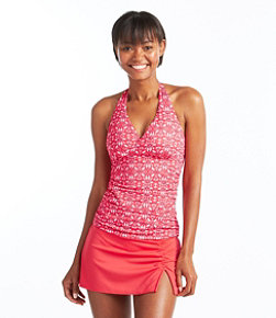 L.L.Bean Mix-and-Match Swimwear, Halter Tankini Print
