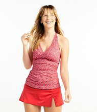 Women's L.L.Bean Mix-and-Match Swimwear, Halter Tankini Print