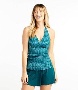 Women's L.L.Bean Mix-and-Match Swimwear, Halter Tankini Print
