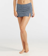 L.L.Bean Mix-N-Match Swim Collection, Low-Rise Skort Print