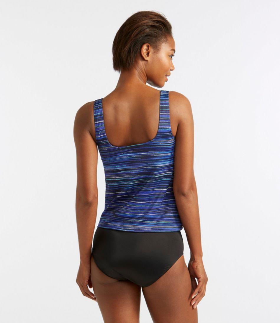 BeanSport® Swimwear, Tankini Top Scoopneck Electric Stripe