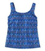 BeanSport® Swimwear, Tankini Top Scoopneck Island Geo Print