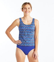 BeanSport Swimwear, Tankini Top Scoopneck Island Geo Print